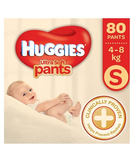 Huggies Ultra Soft Premium Pants S Diapers (80 Pieces)