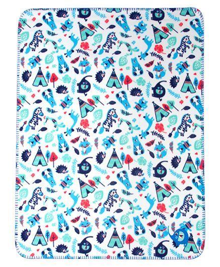 Mee Mee Multi Purpose Fleece Blanket - Dark Blue
