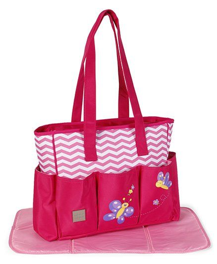 Mee Mee Mother Bag With Changing Mat - Dark Pink
