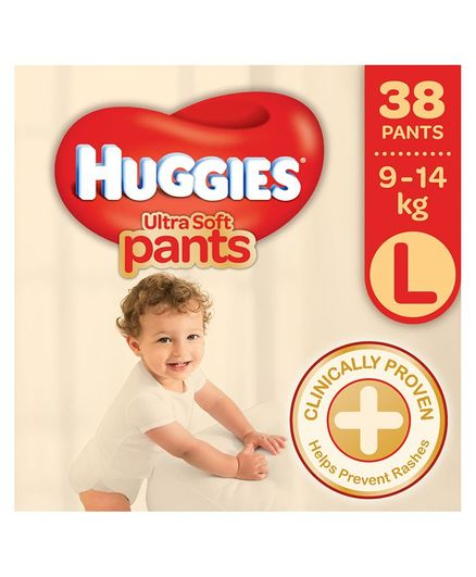 Huggies Ultra Soft Pants Premium Baby L Diapers (38 Pieces)