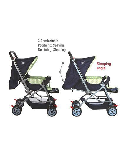 Mee Mee Baby Stroller Cum Pram With Canopy - Navy Blue  sc 1 st  FirstCry & Mee Mee Baby Stroller Cum Pram With Canopy Navy Blue Online in ...