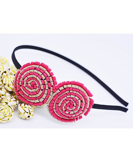 Little Tresses Partywear Double Puff Flower Hair Band Pink for Girls ... 534c37535d9