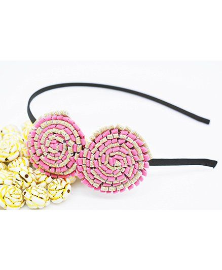 Little Tresses Partywear Double Puff Flower Hair Band Light Pink for ... 4d9d2f8ff9a