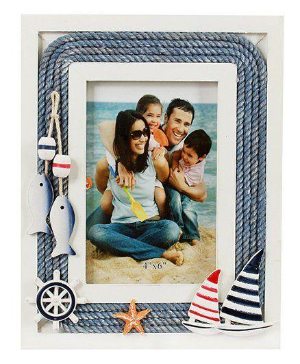 Babies Bloom Marine Themed Photo Frame - Blue White