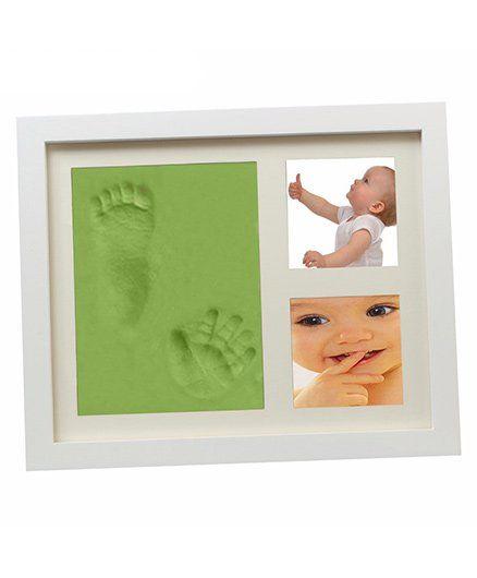 Babies Bloom Hand-Print And Footprint Frame Kit - Green