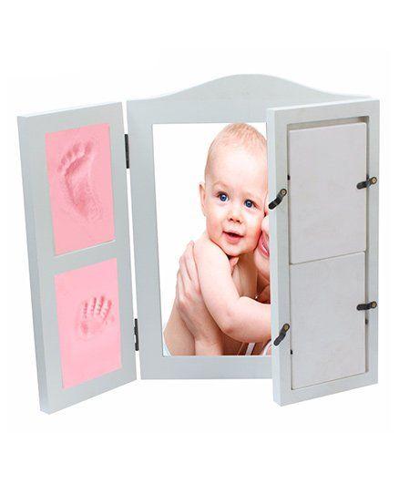 Babies Bloom DIY Hand-Print And Footprint Keepsake Photo Frame - Pink