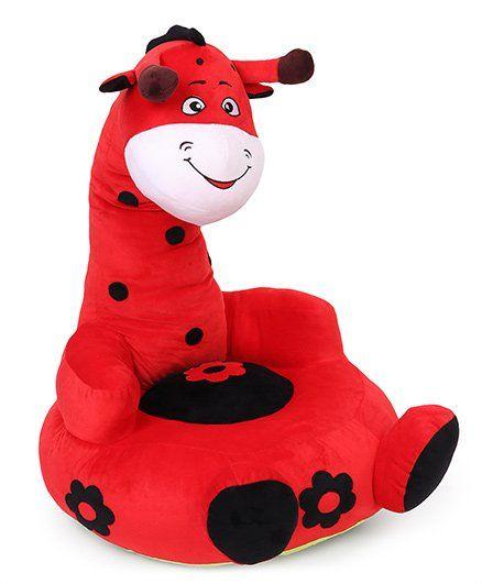Benny & Bunny Giraffe Sofa Seat - Red & Black