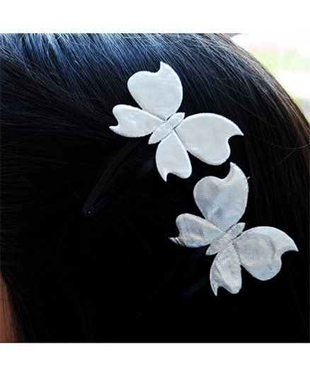 Pretty Ponytails Glitter Butterfly Hair Clip - Silver