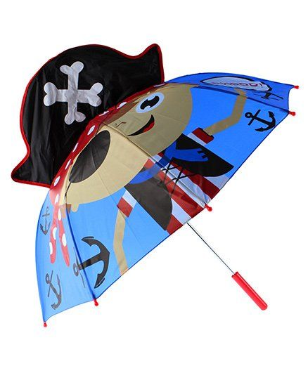 Abracadabra 3D Pop-up Umbrella Pirate Theme - Blue