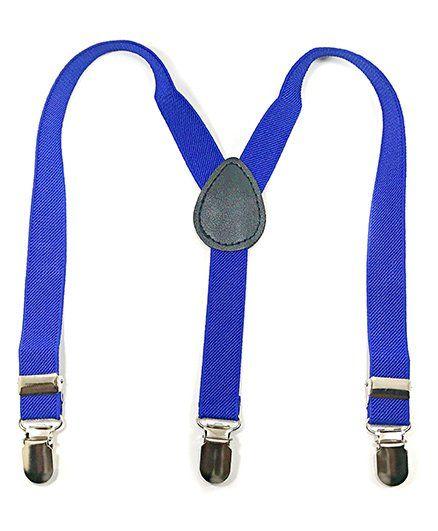 Kidofash Solid Elastic Suspender - Blue