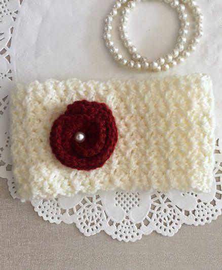 Buttercup From Knitting Nani Elegant  Ear Warmer -  Off White