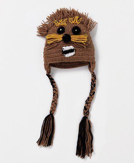 Mayra Knits Lion Cap - Brown
