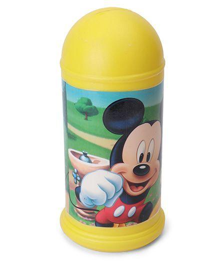 Disney Mickey Mouse Coin Bank - Yellow  (Print May Vary)