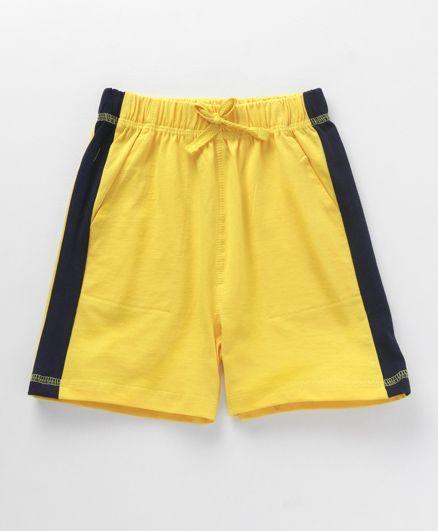 Babyhug Plain Shorts With Drawstrings - Yellow