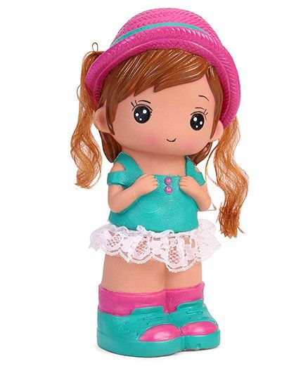Speedage Jessica Doll Coin Bank - Pink Green