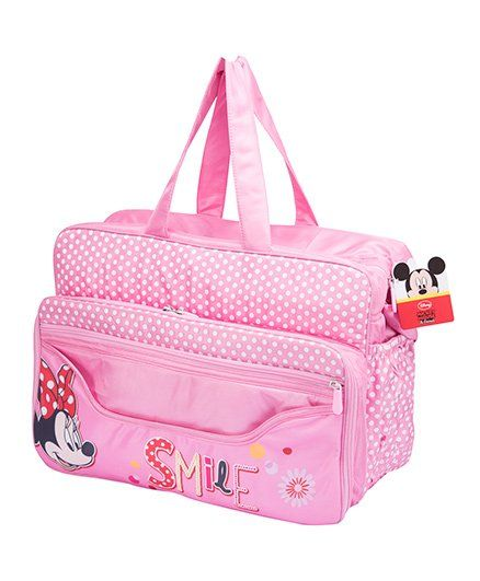 Disney Polka Dot Diaper Bag With Changing Mat Pink