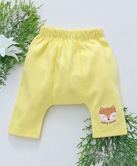 Babyhug Full Length Diaper Leggings - Light Yellow