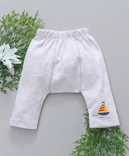 Babyhug Full Length Diaper Leggings - Grey