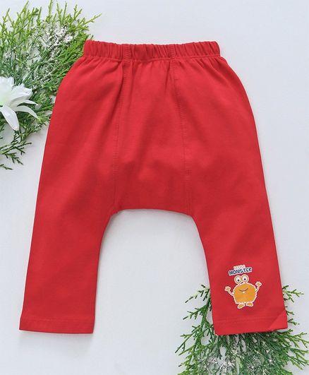 Babyhug Full Length Diaper Leggings - Red