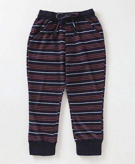 Olio Kids Full Length Stripe Lounge Pant - Navy Red