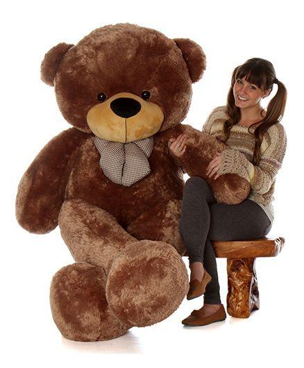 Skylofts Giant Teddy Bear Soft Toy 59 Feet Brown Height 180 Cm