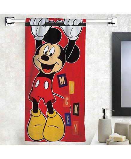 Disney Mickey Mosue Bath Towel - Red