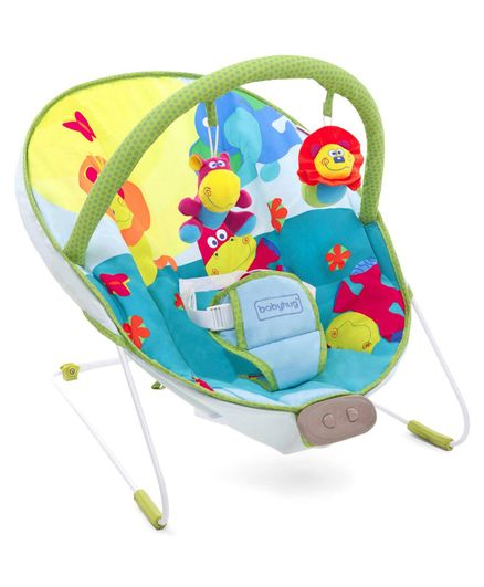 Babyhug Comfy Bouncer Animal Print - Multicolour