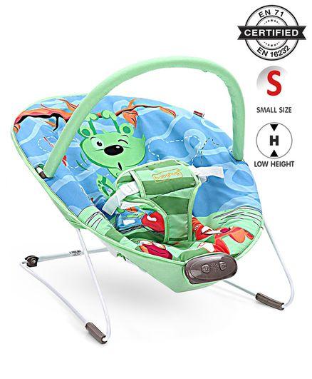 Babyhug Comfy Bouncer Animal Print - Blue Green