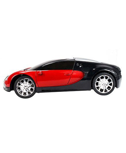 Planet Of Toys Remote Controlled Bugatti Toy Car   Red Black