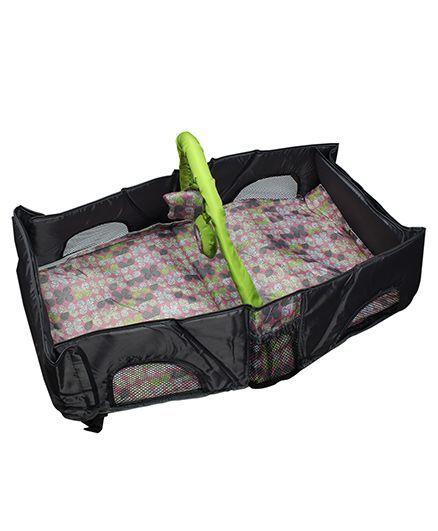 Babies Bloom Infant Travel Bag Cum Diaper Changer - Black