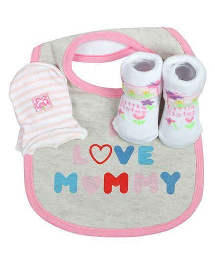 Babies Bloom Gift Set I Luv Mummy Design Set of 3 - Grey
