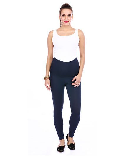 The Mommy Collective Maternity Leggings - Cobalt Blue