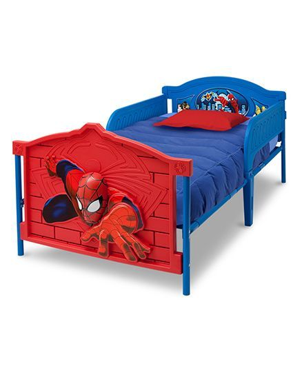 Marvel Spiderman Twin Bed - Red & Blue