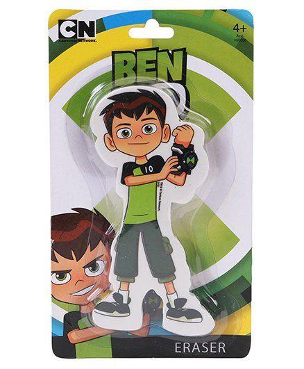 Ben 10 Die Cut Shaped Eraser - Green