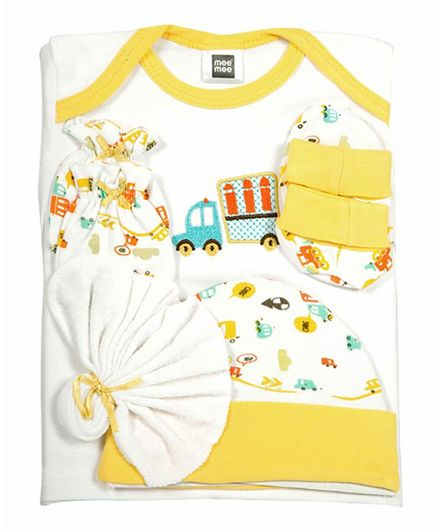 Mee Mee Gift Set Truck Patch Set of 8 - Yellow & White