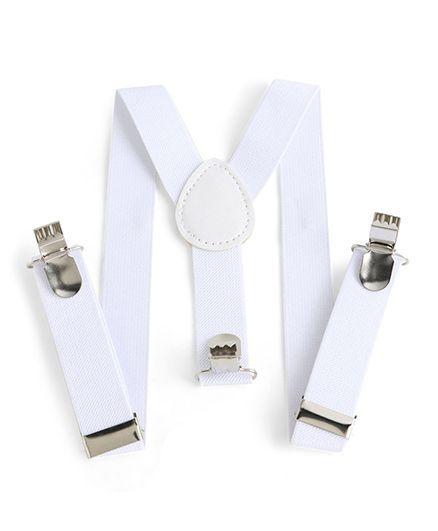 Babyhug Y Shape Suspenders - White