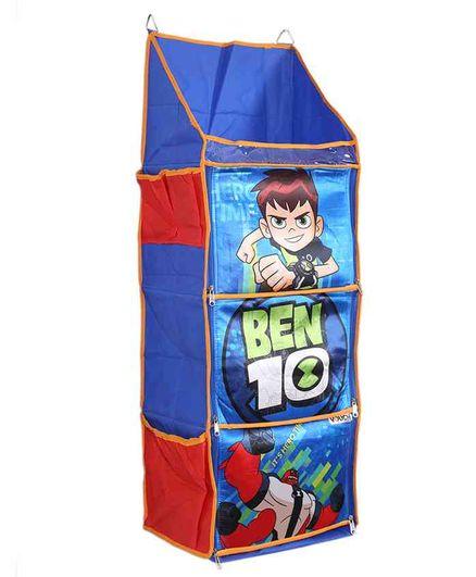 Ben 10 3 Shelf Foldable Hanging Rack - Blue & Red