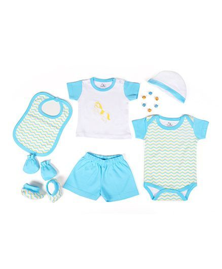 Beebop Apparel Gift Set Pack of 7 - Blue & White