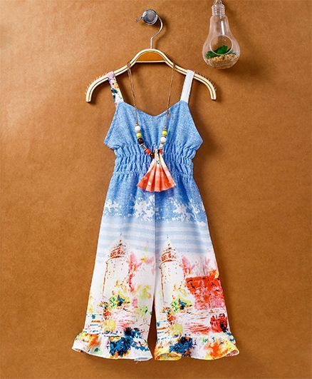 c7719fc66c24 Buy Little Kangaroos Singlet Jumpsuit With Beaded Necklace Blue for ...