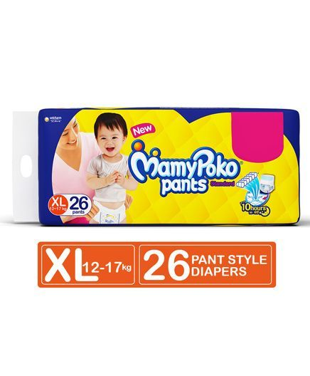 Mamy Poko Pants Standard XL Diapers (26 Pieces)