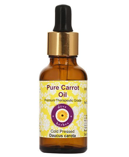 Deve Herbes 100% Pure Carrot Oil With Dropper - 50 ml