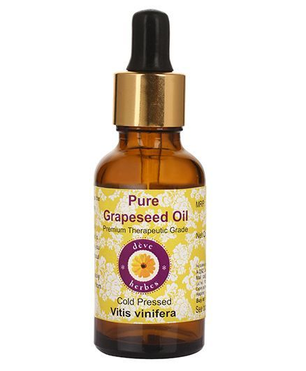 Deve Herbes Pure Grapeseed Oil With Dropper - 30 ml