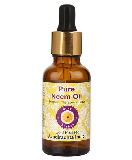 Deve Herbes 100% Pure Neem Oil With Dropper - 100 ml