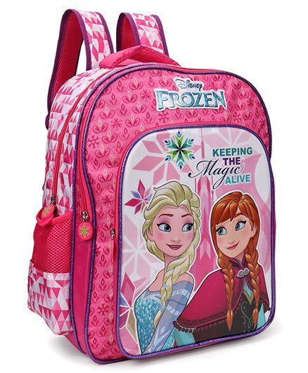 69ac501e4efa Disney Frozen School Bag Pink Purple Height 16 inches Online in ...
