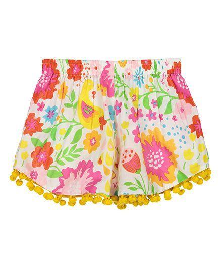 Masala Baby Pom Pom Shorts English Garden - Multicolor