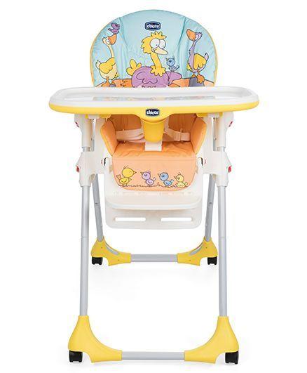 Chicco High Chair Birdie Print - Yellow