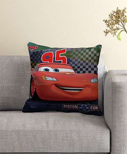 Disney Pixar Cars Filled Cushion With Cover - Black Red