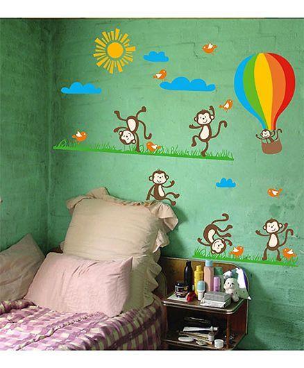 Oren Empower Monkey Wall Sticker Large - Brown