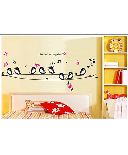 Oren Empower Wall Sticker Bird Print - Multicolor