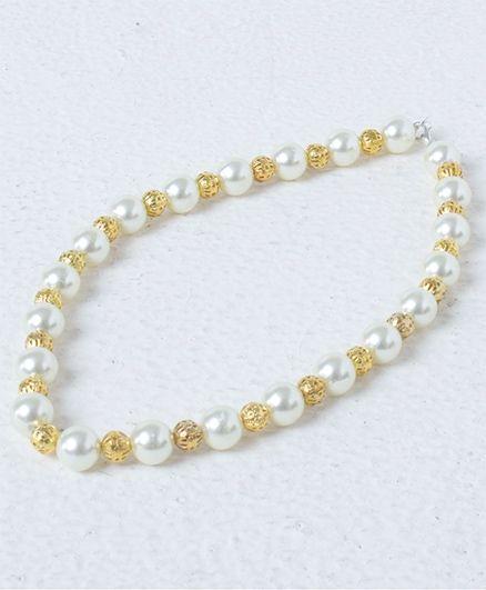 Milyra Pearl Necklace - White & Golden